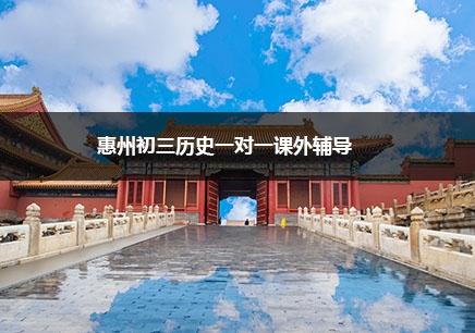惠州初三历史一对一辅导班