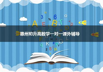 惠州初升高数学一对一辅导课程