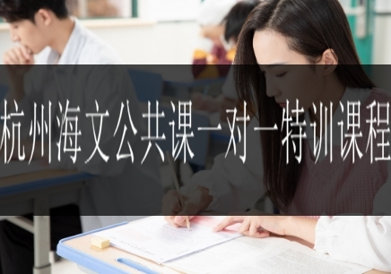 杭州海文公共课一对一特训课程