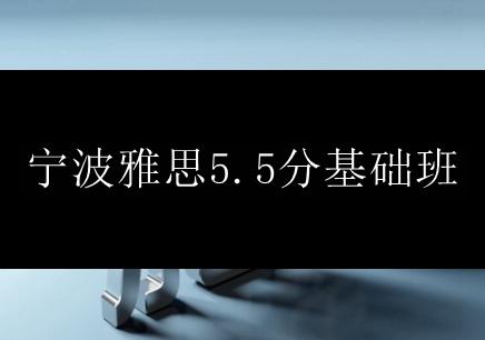 宁波雅思5.5分基础班