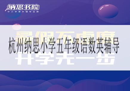 杭州纳思小学五年级语数英辅导